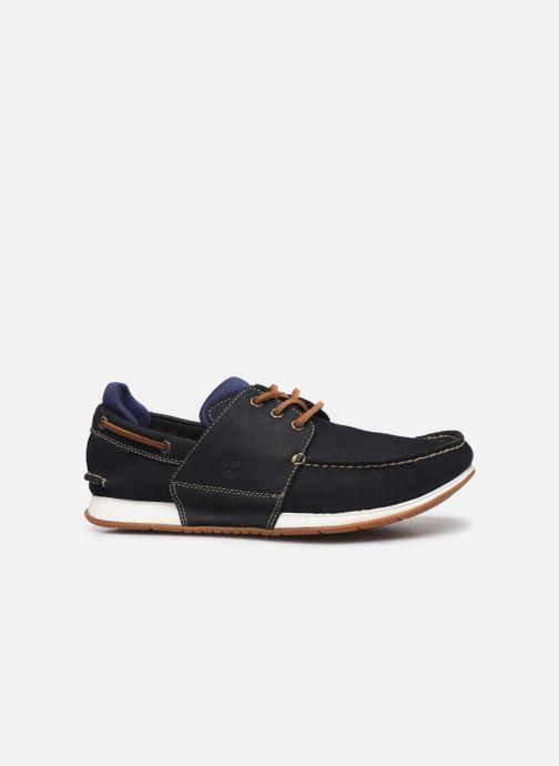 Zapatos con cordones Timberland Heger's Bay 3 Eye Boat Azul vistra trasera