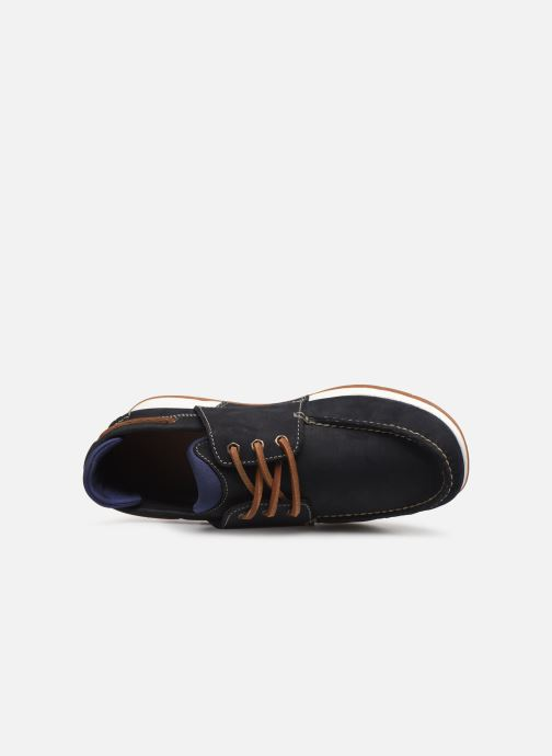 Zapatos con cordones Timberland Heger's Bay 3 Eye Boat Azul vista lateral izquierda
