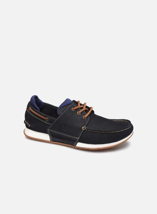 Zapatos con cordones Timberland Heger's Bay 3 Eye Boat Azul vista de detalle / par