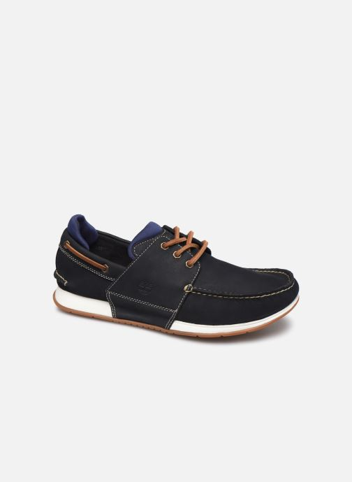 Chaussures à lacets Timberland Heger's Bay 3 Eye Boat Bleu vue détail/paire
