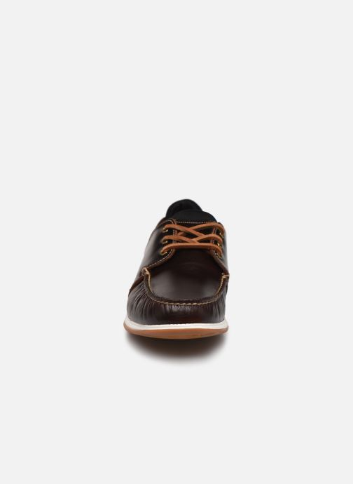 Chaussures à lacets Timberland Heger's Bay 3 Eye Boat Marron vue portées chaussures