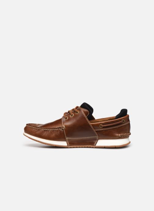 Chaussures à lacets Timberland Heger's Bay 3 Eye Boat Marron vue face