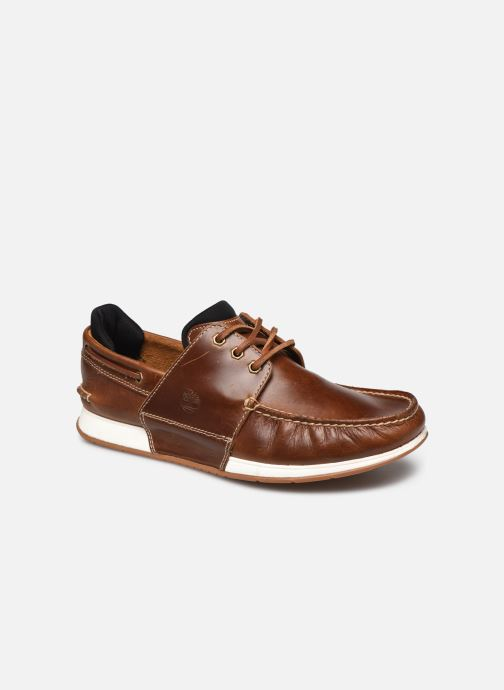 Chaussures à lacets Timberland Heger's Bay 3 Eye Boat Marron vue détail/paire