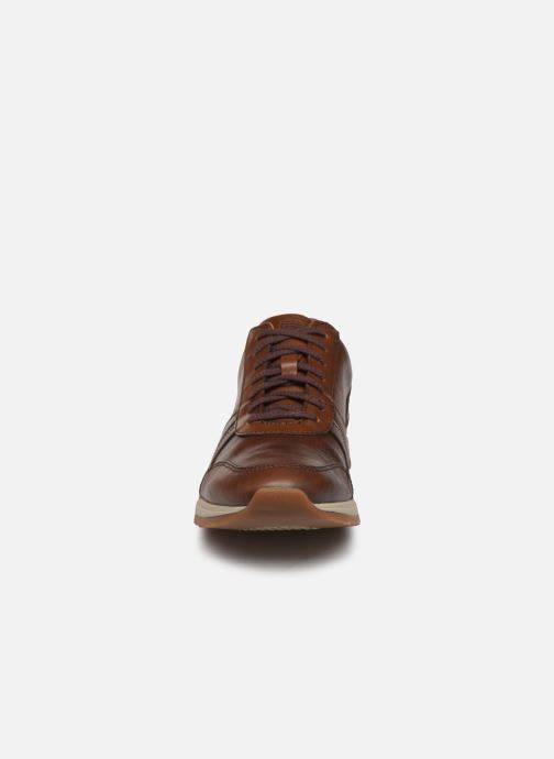 Baskets Timberland Madaket Leather Sneaker Marron vue portées chaussures