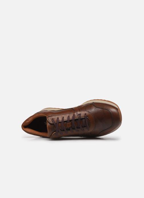 Baskets Timberland Madaket Leather Sneaker Marron vue gauche