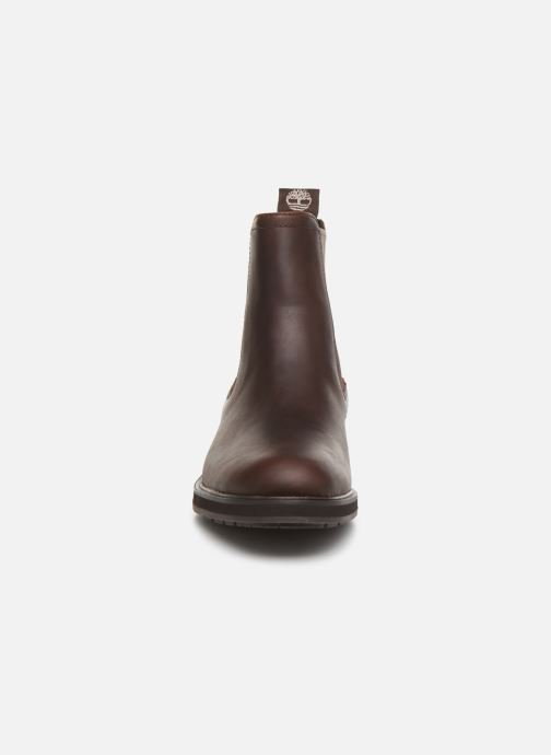 Bottines et boots Timberland Windbucks Chelsea Marron vue portées chaussures