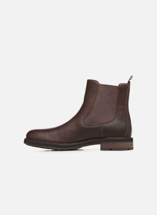 Bottines et boots Timberland Windbucks Chelsea Marron vue face