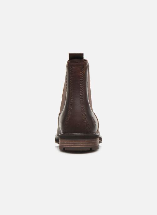 Bottines et boots Timberland Windbucks Chelsea Marron vue droite