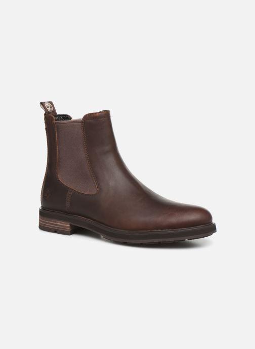 Bottines et boots Timberland Windbucks Chelsea Marron vue détail/paire