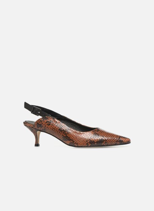 Décolleté Shoe the bear HAYDEN SLINGBACK SNAKE Marrone immagine posteriore