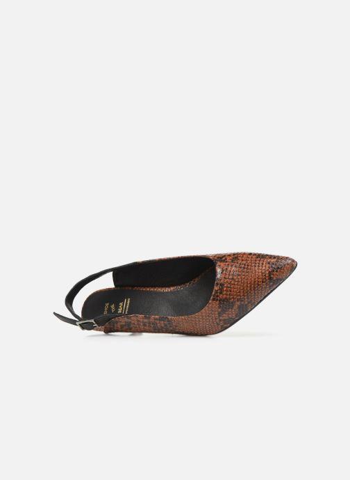 Zapatos de tacón Shoe the bear HAYDEN SLINGBACK SNAKE Marrón vista lateral izquierda