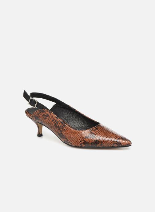 Zapatos de tacón Shoe the bear HAYDEN SLINGBACK SNAKE Marrón vista de detalle / par
