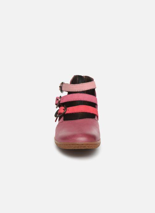 Ballerines Kickers Vegbecky Bordeaux vue portées chaussures