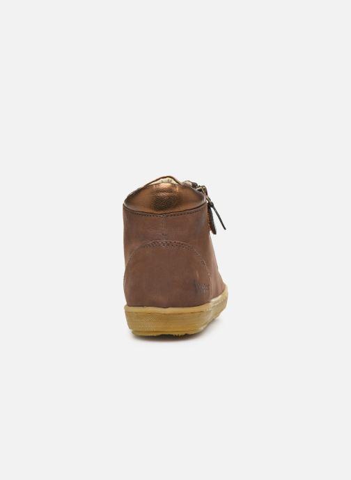Sneakers Kickers Sirena 2 Brun Se fra højre