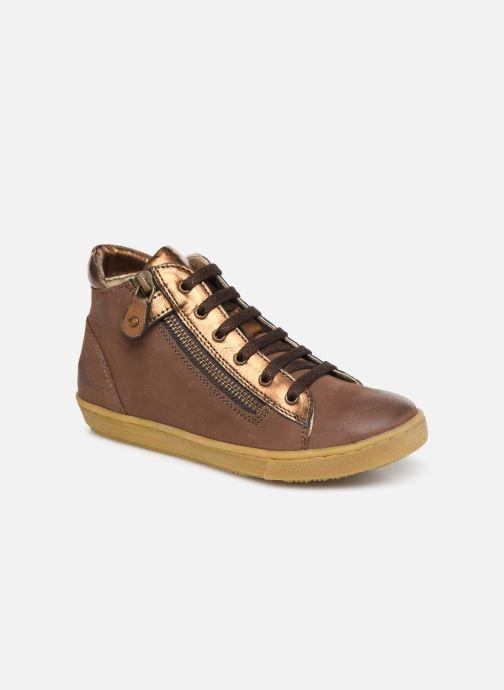 Sneakers Kickers Sirena 2 Brun detaljeret billede af skoene