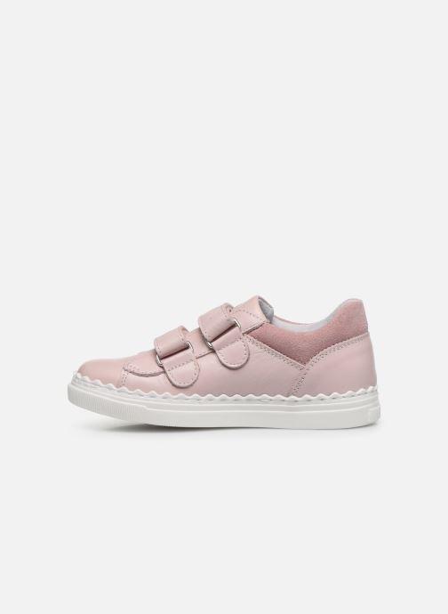 Baskets I Love Shoes JOCROK LEATHER Rose vue face