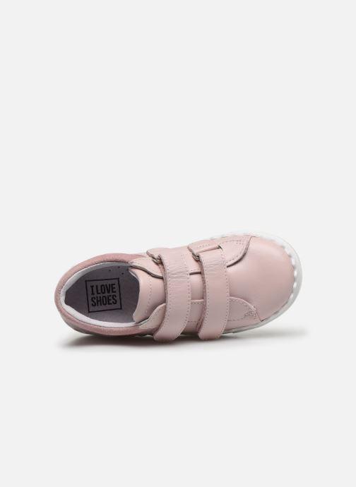 Baskets I Love Shoes JOCROK LEATHER Rose vue gauche