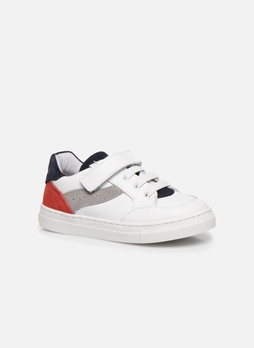 Baskets I Love Shoes JOKER LEATHER Blanc vue détail/paire