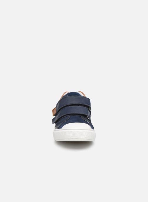 Baskets I Love Shoes JOMINO LEATHER Bleu vue portées chaussures