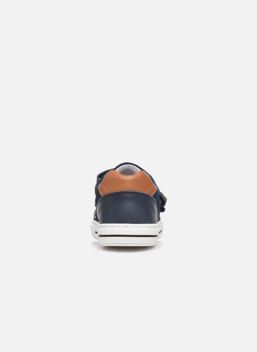 Baskets I Love Shoes JOMINO LEATHER Bleu vue droite