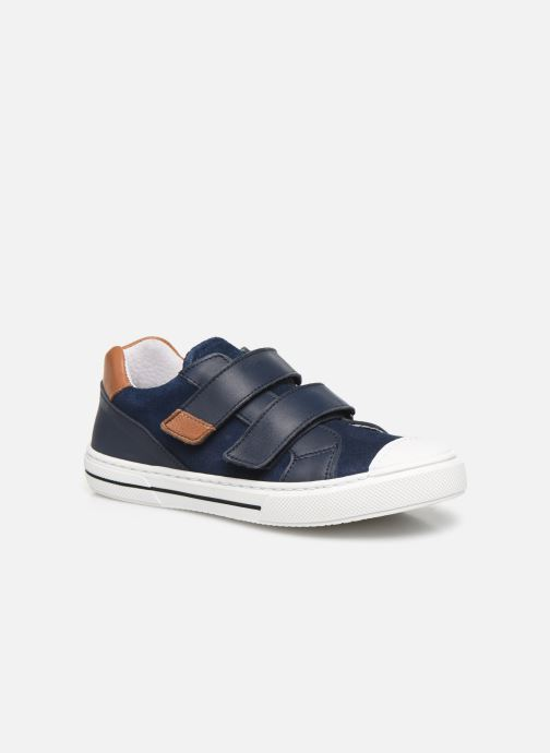 Baskets I Love Shoes JOMINO LEATHER Bleu vue détail/paire