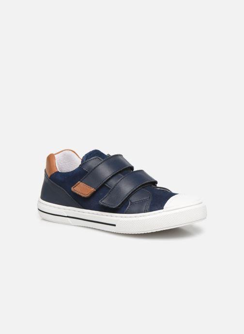 Baskets I Love Shoes JOMINO LEATHER Bleu vue détail/paire