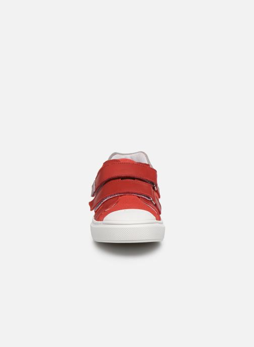 Baskets I Love Shoes JOMINO LEATHER Rouge vue portées chaussures
