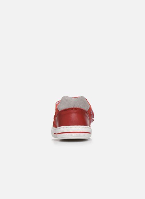 Deportivas I Love Shoes JOMINO LEATHER Rojo vista lateral derecha