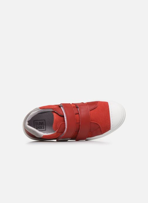 Baskets I Love Shoes JOMINO LEATHER Rouge vue gauche