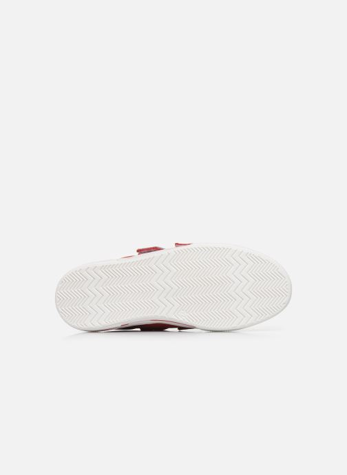 Baskets I Love Shoes JOMINO LEATHER Rouge vue haut