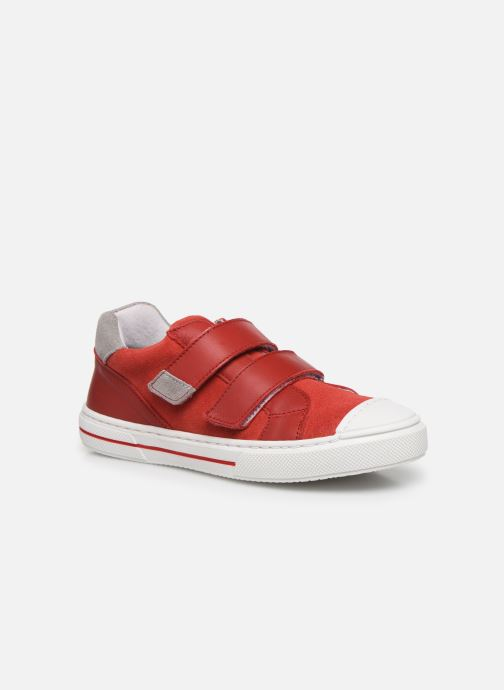 Baskets I Love Shoes JOMINO LEATHER Rouge vue détail/paire