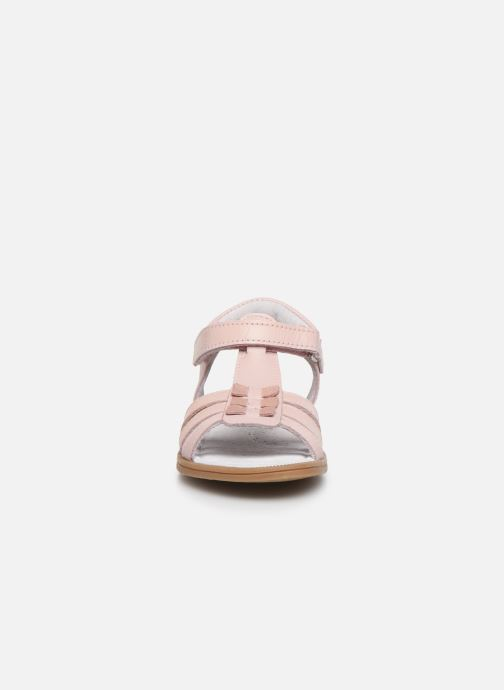 Sandali e scarpe aperte I Love Shoes JOLANA LEATHER Rosa modello indossato