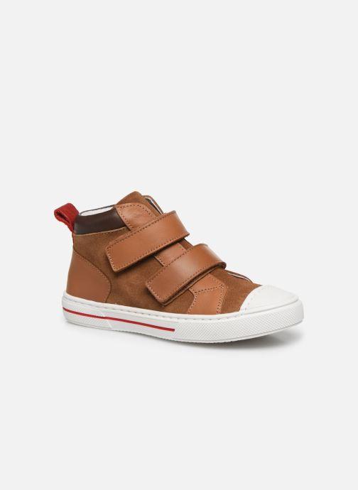 Baskets I Love Shoes JOSSEY LEATHER Marron vue détail/paire
