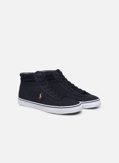 Baskets Polo Ralph Lauren Shaw-Sneakers-Vulc Bleu vue 3/4