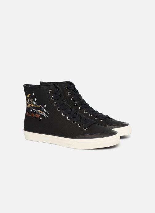 Baskets Polo Ralph Lauren Solomon-Ne-Sneakers-Vulc Noir vue 3/4