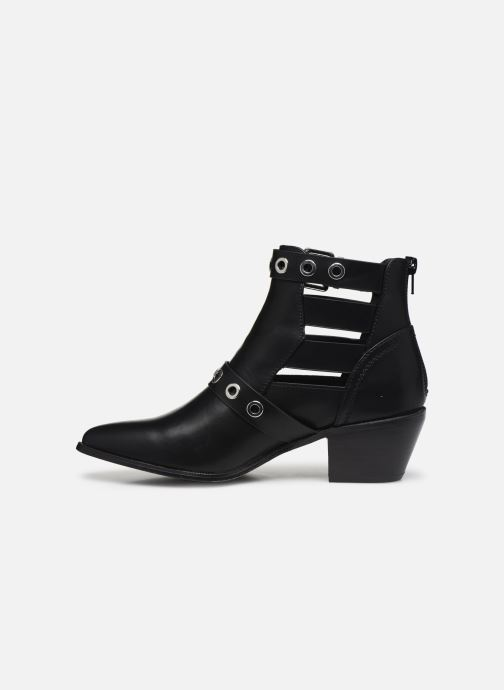 Stivaletti e tronchetti ONLY ONLTOBIO PU CUT OUT BUCKLE BOOT Nero immagine frontale