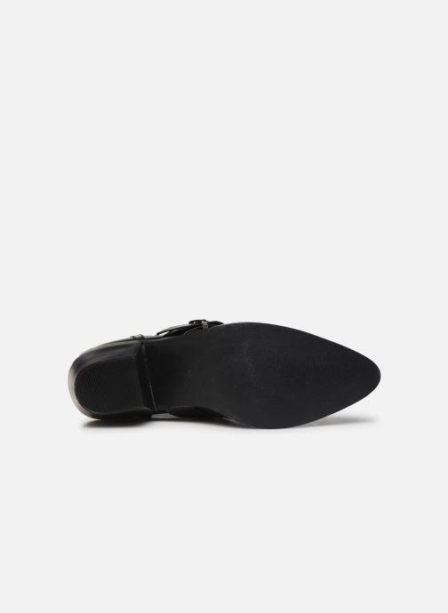 Bottines et boots ONLY ONLTOBIO PU CUT OUT BUCKLE BOOT Noir vue haut