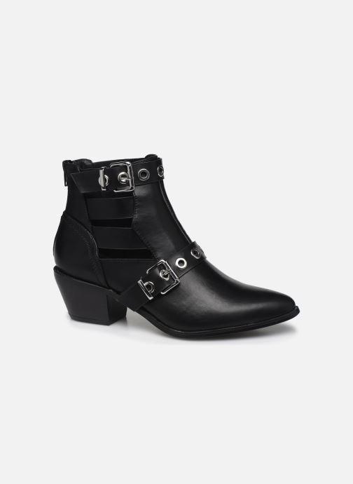 Bottines et boots ONLY ONLTOBIO PU CUT OUT BUCKLE BOOT Noir vue détail/paire