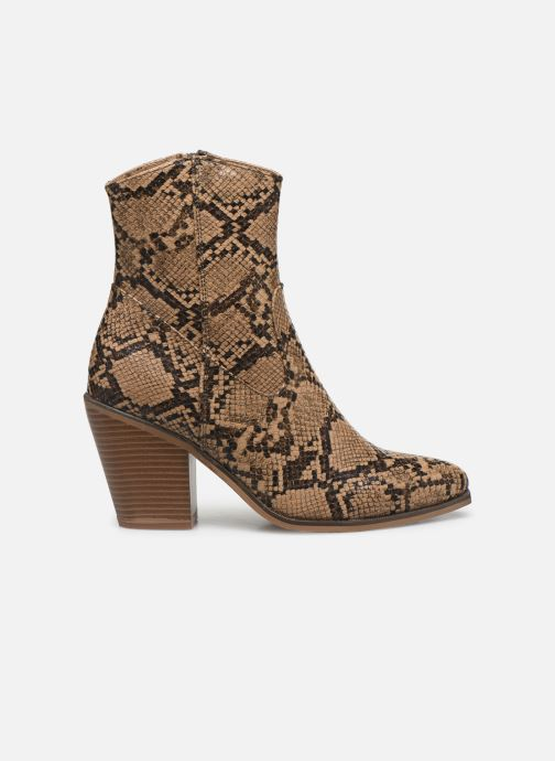 Ankle boots ONLY ONLBLAKE PU STRUCTURED HEELED BOOT Brown back view