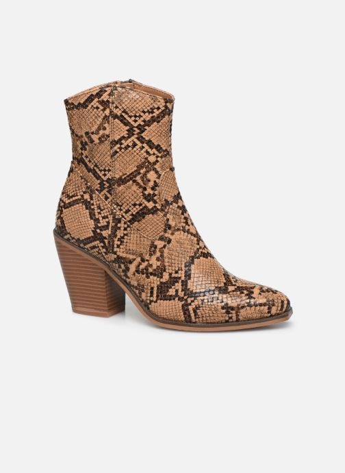 Ankle boots ONLY ONLBLAKE PU STRUCTURED HEELED BOOT Brown detailed view/ Pair view