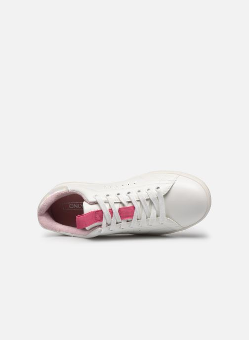 Trainers ONLY ONLSHILO PU IRIDESCENT SNEAKER White view from the left
