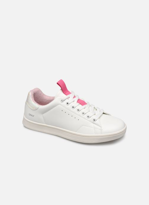 Trainers ONLY ONLSHILO PU IRIDESCENT SNEAKER White detailed view/ Pair view