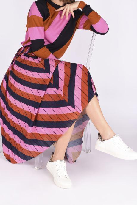 Baskets ONLY ONLSHILO ANIMAL PU SNEAKER Blanc vue bas / vue portée sac