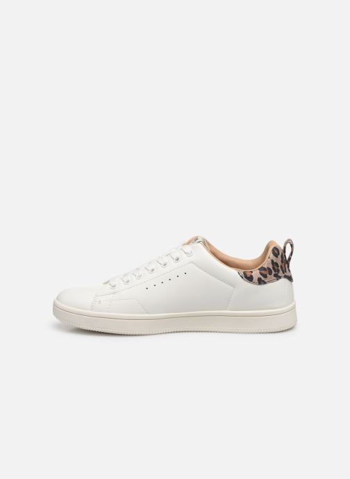 Baskets ONLY ONLSHILO ANIMAL PU SNEAKER Blanc vue face