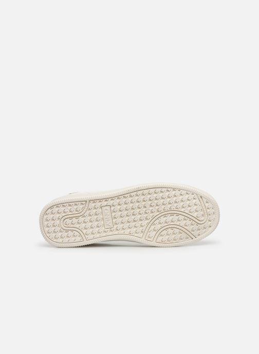 Baskets ONLY ONLSHILO ANIMAL PU SNEAKER Blanc vue haut