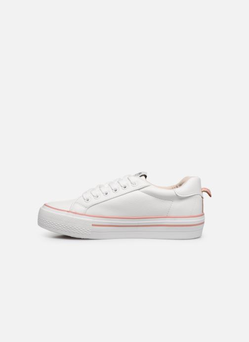 Baskets ONLY ONLSAILOR PU DETAIL SNEAKER Blanc vue face