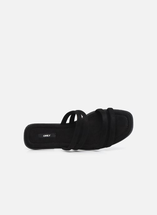 Zuecos ONLY ONLMIA STRAP SLIP ON Negro vista lateral izquierda