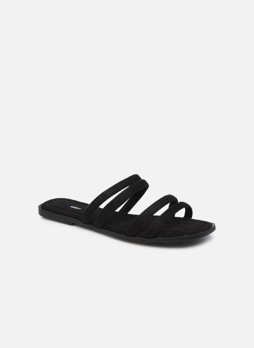 Zuecos ONLY ONLMIA STRAP SLIP ON Negro vista de detalle / par