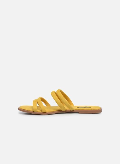 Zuecos ONLY ONLMIA STRAP SLIP ON Amarillo vista de frente