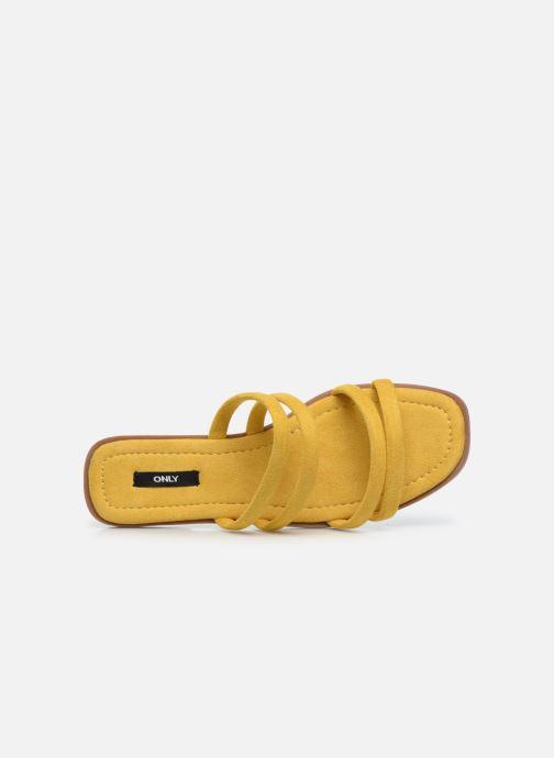Clogs & Pantoletten ONLY ONLMIA STRAP SLIP ON gelb ansicht von links